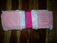 Baby girl flannel rag quilt