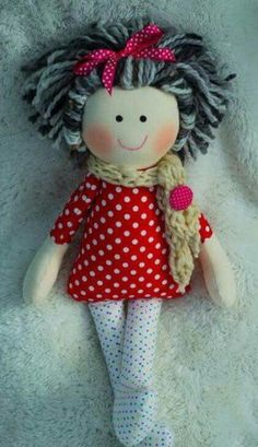 1 million+ Stunning Free Images to Use Anywhere Sock Dolls, Plush Dolls, Doll Toys, Baby Dolls, Doll Crafts, Diy Doll, Soft Toys Making, Handmade Soft Toys, Fabric Toys