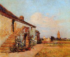 """""""Bourg de Batz"""", Brittany,  by Ferdinand du Puigaudeau"""