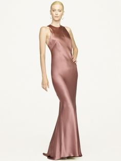 Abrielle Silk Charmeuse Dress - Black Label  New Arrivals - RalphLauren.com