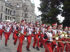 Marching bands invade Victoria...