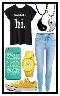 """""""230: Friendship"""" by alinepelle ❤ liked on Polyvore featuring Chicnova Fashion, Converse and Boum"""