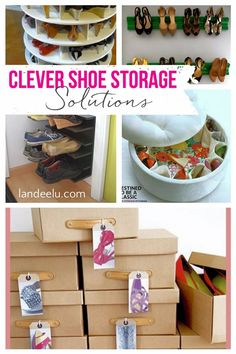 Take back your closet and clear the clutter while spring cleaning by following these clever Shoe Storage solutions | #shoeorganization #shoestorage #closets #closetorganization Shoe Storage Solutions, No Closet Solutions, Declutter, Organize, Clever Closet, Creative Shoes, Save Your Money, Do It Yourself Projects, Awesome Bedrooms