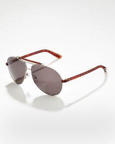 Bradley Metal Aviator Sunglasses by Tom Ford For Men at Bergdorf Goodman.
