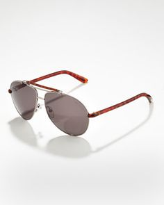 Bradley Metal Aviator Sunglasses by Tom Ford For Men at Bergdorf Goodman.