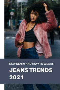 2021 jeans trends: new denim and how to wear it. How to wear jeans in 2021. How to wear jeans over 40 and over 50. Over 40 fashion tips. #denim #jeans #jeanstrends #2021jeans #fashion #style #2021fashion Denim Jeans, Fur Coat, Trends, Jackets, How To Wear, Fashion Tips, Style, Swag, Fashion Advice