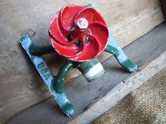 Vintage Lawn Hose Sprinkler, Made in the USA Garden Junk, Garden Tools, Garden Ideas, Sprinkler Hose, Garden Sprinklers, Vintage Seed Packets, Junk Art, Vintage Love, Garden Styles