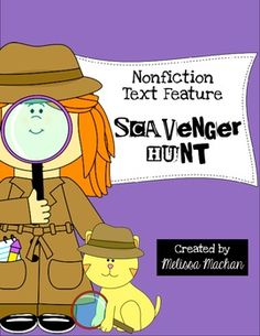 Nonfiction Text Feature Scavenger Hunt {FREE} @Brooke Willis @Jennifer Lynn @Megan Barbour - this would be good for small groups or read to self!