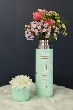 A thermos that does double duty when filled with blooms!