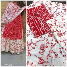 Kurta Sets Charvi Attractive Women Kurta Sets Kurta Fabric: Rayon Bottomwear Fabric: Cotton Cambric Fabric: Cotton Cambric Set Type: Kurta With Dupatta And Bottomwear Bottom Type: Skirt Sizes: L (Bust Size: 40 in)  XXL (Bust Size: 44 in)  M (Bust Size: 38 in)  Country of Origin: India Sizes Available: M, L, XXL   Catalog Rating: ★4.1 (1016)  Catalog Name: Women Dupatta Set CatalogID_2504703 C74-SC1003 Code: 835-12887821-0051
