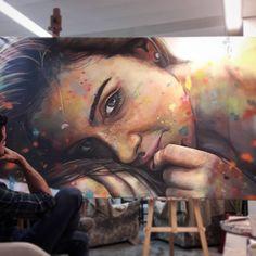 Acrylic portrait painting by Pedro Albuquerque