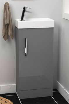 Floor Standing Vanity Unit in Indigo Grey Gloss Finish is available at a discounted price. Pay £84.99 instead of £177.00. Good day!