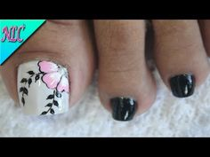 Toe Nail Art, Toe Nails, Nail Art Videos, Flower Nails, Polymer Clay Earrings, Manicure And Pedicure, Nail Designs, Polish, Tattoos