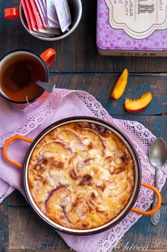 Clafoutis crémeux coco-nectarines  ♥ Sans Lait ♥ IG Bas ♥ Sweet Cooking, Healthy Cooking, Mousse, Healthy Drinks, Healthy Recipes, Grilling Gifts, Grilled Meat, Fabulous Foods, I Love Food