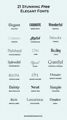 20 beautiful and free elegant fonts - Ana Amelio - Design for Life Portfolio Graphic Design, Graphic Design Fonts, Luxury Graphic Design, Graphisches Design, Logo Design, Vector Design, Design Ideas, Elegant Fonts Free, Free Modern Fonts
