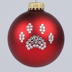 Red Paw Print Ornament - Dog and Cat Paw Print Christmas Tree Ornaments - Pet Ornaments Dog Ornaments, Painted Ornaments, Diy Christmas Ornaments, Homemade Christmas, Holiday Crafts, Christmas Decorations, Christmas Animals, Christmas Cats, Christmas Holidays