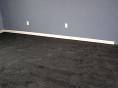 Dark Carpet - Gray Wall