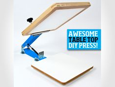 diy screen printing press - Google Search Book Art, Cd Art, Diy Screen Printing Kit, T Shirt Time, Web Business, Concrete Projects, Screenprinting, Illustrations, Printing Process