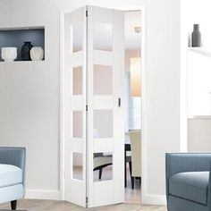 Direct Doors supply a wide range of high quality Internal Bi folding Doors & Internal BiFold Doors with Glass at affordable prices ideal for fitting where space is at a premium. Shop Now - October 07 2019 at White Bifold Doors, Laundry Room Doors, Interior, Black Interior Doors, Home Decor, Folding Doors Interior, Doors Interior, Elegant Doors, Kitchen Window Design