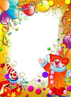 4shared - استعرض جميع الصور في المجلد CIRCO Happy Birthday Mickey Mouse, Happy Birthday Frame, Birthday Frames, Birthday Greetings, Birthday Wishes, Hello Kitty Invitations, Carnival Crafts, Boarders And Frames, Crafts For Kids