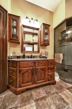 Custom vanity with mirror and side cabinets www.hustlerdesignhouse.ca