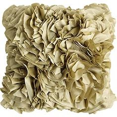 gold ruffles pillow
