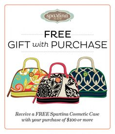 Spartina gift with purchase at Lazy Gator Murrells Inlet SC Myrtle Beach Shopping, Murrells Inlet Sc, What's In My Purse, Cosmetic Case, Louis Vuitton Speedy Bag, Free Gifts, Gym Bag, Cosmetics, Purses