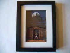 CastleVania IV  Draculas Castle 3D Diorama Shadow Box $32.32 #3ddiorama #diorama #gifts #giftsforhim #castlevania4