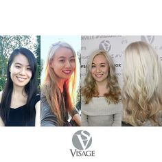 The journey from black hair to blonde while maintaining the integrity of your locks takes time patience a great colorist and some #smartbond  Here are some photos from @xiaozhou90 showing before during and after her transition to platinum! Don't expect these results in one visit folks and most certainly don't try this at home.  Looks absolutely stunning on you Michelle!  Color by Paige / @paigeivycolor  Styled by Elle / @kaitichelle  #visagemoments #blacktoblonde