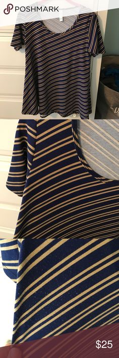 LuLaRoe Perfect T In great condition!  Some piling under arm area.  See pictures. LuLaRoe Tops Tunics