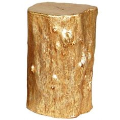 Gold log Stool