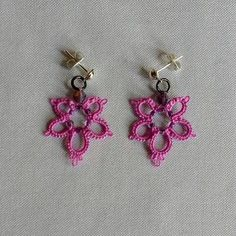 Hey, I found this really awesome Etsy listing at https://www.etsy.com/listing/568210301/tatted-lilac-flower-earrings-with-purple