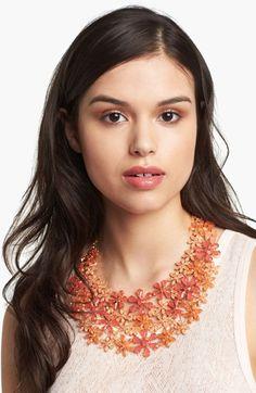 'Field of Flowers' Bib Necklace
