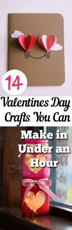 14 Easy #ValentinesDay #Crafts you can make in under an hour