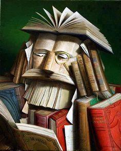 Book People: Giuseppe Arcimboldo is channeled again Giuseppe Arcimboldo, La Sainte Bible, Dom Quixote, Book People, I Love Books, Altered Books, Book Crafts, Book Nerd, Oeuvre D'art