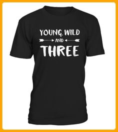 Top Shirt Young Wild and Three Years Old Birthday front 1 - Wild shirts (*Partner-Link)