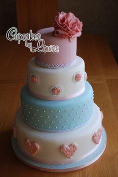 'summer love' shabby chic wedding cake
