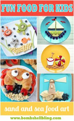 messestomemor … wp-content uploads 2015 06 sand-and-sea-food-art-bombshell …. Kids Food Crafts, Food Art For Kids, Fun Snacks For Kids, Cooking With Kids, Art Kids, Food Kids, Kid Snacks, Kids Fun, Smart Snacks