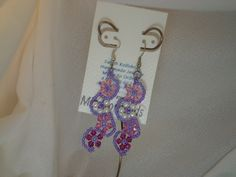 Two Three or Four drop flowerette dangle earrings on hooks by MindForBeads on Etsy