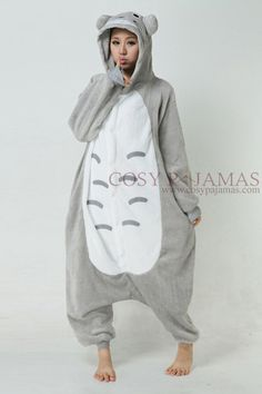 Animal Costume Totoro Adult Onesie Kigurumi Pajamas - OMG! I should get  this for Bill c0e9eae5a