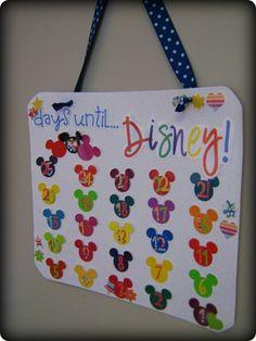 Disney trip countdown w/ activities