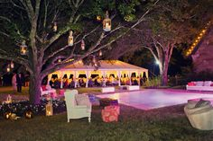 Gorgeous tent at night #wedding tent #tent