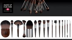 MAKE UP FOR EVER- PROFESSIONAL Brushes
