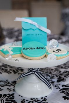 Tea party at Tiffany's . cute cookies
