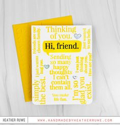 So Talkative Card Kit - Handmade by Heather Ruwe Friend Cards, Cards For Friends, Better Together, Card Kit, Diy Cards, Fun, Handmade, Inspiration, Biblical Inspiration