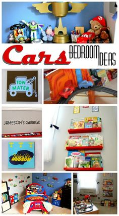 Do you have a little Cars fan in need of a bedroom… Boys Car Bedroom, Car Nursery, Boy Toddler Bedroom, Boys Bedroom Decor, Bedroom Themes, Disney Nursery, Car Bedroom Ideas For Boys, Room Boys, Boy Rooms