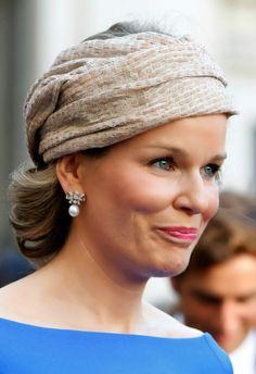 Queen Mathilde of Belgium attends the Wedding Of Prince Amedeo Of Belgium And Elisabetta Maria Rosboch Von Wolkenstein at Basilica Santa Maria in Trastevere, 05.07.2014 in Rome, Italy.