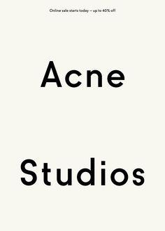 Acne Studios E-Mail ( no source found ) Layout Design, Ästhetisches Design, Graphic Design Layouts, Print Layout, Logo Design, Poster Layout, Email Design, Icon Design, Lettering