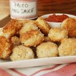 """Coconut Chicken Nuggets with Paleo """"BBQ"""" Sauce"""
