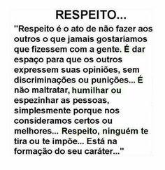 #Respeito